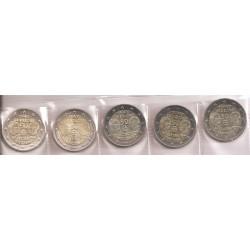 Alemania 2013 2 Euros Las 5 Cecas. Tratado Elíseo S/C