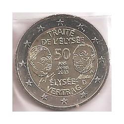 Alemania 2013 2 Euros Ceca A. Tratado Elíseo S/C