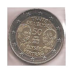 Alemania 2013 2 Euros Ceca D. Tratado Elíseo S/C