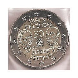 Alemania 2013 2 Euros Ceca F. Tratado Elíseo S/C