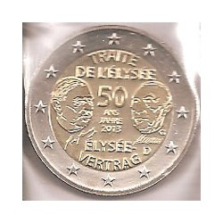 Alemania 2013 2 Euros Ceca G. Tratado Elíseo S/C