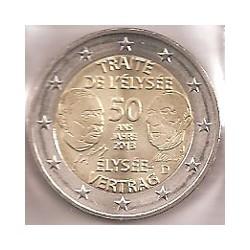 Alemania 2013 2 Euros Ceca J. Tratado Elíseo S/C