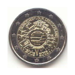 Alemania 2012 2 Euros Ceca J.10 Años de Circulación del Euro S/C