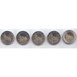 Alemania 2011 2 Euros .Las 5 Cecas.Renania del N.- Westfalia S/C