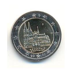Alemania 2011 2 Euros. Cualquier Ceca.Renania del N.- Westfalia S/C