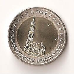 Alemania 2008 2 Euros Ceca J. Hamburgo S/C