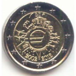 Bélgica 2012 2 Euros 10 Años de Circulación del Euro. S/C