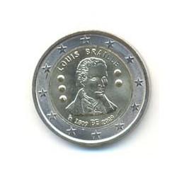 Bélgica 2009 2 Euros Braille S/C