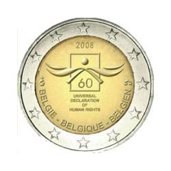 Bélgica 2008 2 Euros 60 Aniv. Derechos Humanos S/C
