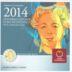 Austria 2014 Cartera Oficial S/C