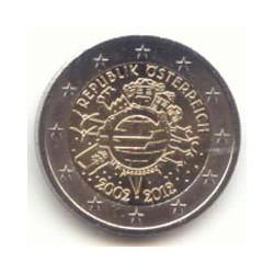 Austria 2012 2 Euros 10 años de circulación del Euro S/C