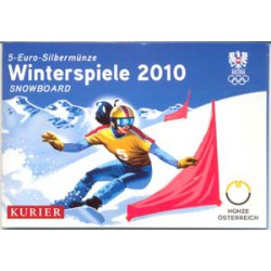Austria 2010 5 Euros circulante Plata S/C