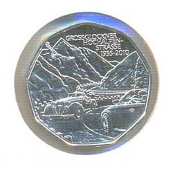 Austria 2010 5 Euros. Carretera Grossglokner S/C