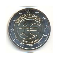 Austria 2009 2 Euros 10º Aniv. del Euro S/C