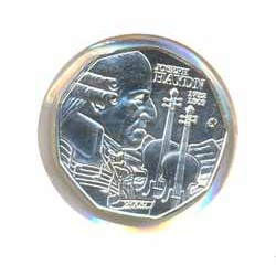 Austria 2009 5 Euros circulante Plata S/C