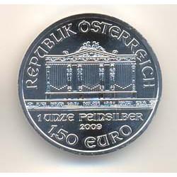 Austria 2009 1´5 Euros Plata. Filarmónica de Viena S/C