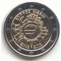 Chipre 2012 2 Euros 10 Años de Circulación del Euro. S/C
