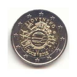 Eslovaquia 2012 2 Euros 10 Años de Circulación del Euro S/C
