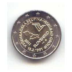 Eslovaquia 2011 2 Euros 20 Anvi. Grupo de Visegrado. S/C