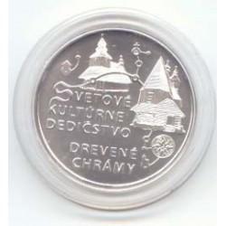 Eslovaquia 2010 10 Euros Plata. Iglesias de madera de Los Cárpatos S/C