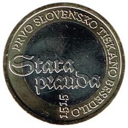 Eslovenia 2015 3 Euros. 500 Aniv. 1er texto impreso S/C