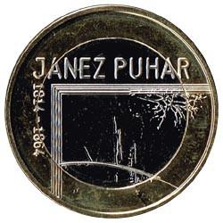 Eslovenia 2014 3 Euros. Janez Puhar S/C
