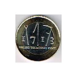 Eslovenia 2013 3 Euros. 300 Aniv. Revuelta de Tolmin S/C