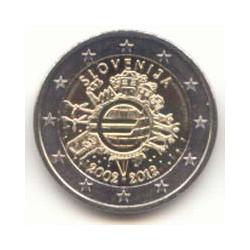 Eslovenia 2012 2 Euros 10 años de Circulación del Euro S/C