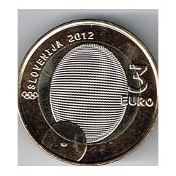 Eslovenia 2012 3 Euros. Cent. Primera Medalla Olímpica S/C