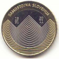 Eslovenia 2011 3 Euros. 20 Aniv. de la República S/C