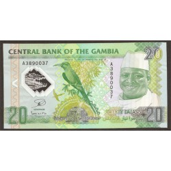 Gambia 20 Dalasis PK Nuevo 22-7-2014 S/C