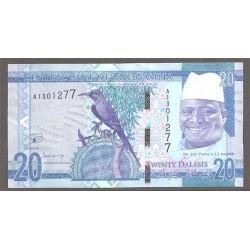 Gambia 20 Dalasis PK Nuevo 2015 S/C