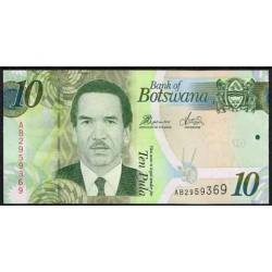 Botswana 10 Pula PK 30b (2.010) S/C