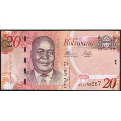 Botswana 20 Pula PK 31c (2.012) S/C