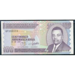 Burundi 100 Francos PK 37c (1-8-2.001) S/C