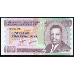 Burundi 100 Francos PK 44 (1-5-2.010) S/C