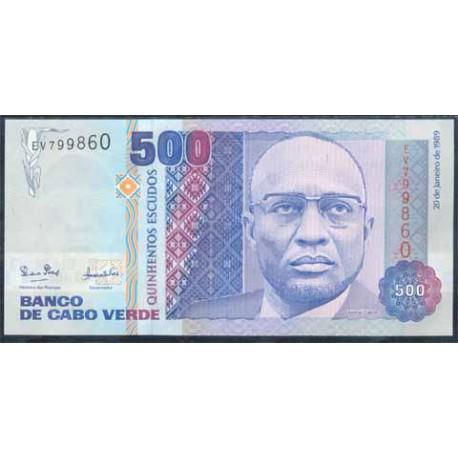 Cabo Verde 500 Escudos PK 59 (20-1-1.989) S/C