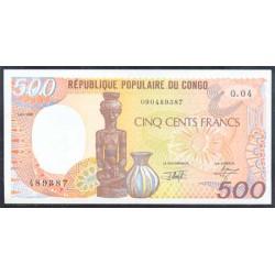 Congo 500 Francos PK 8d (1-1-1.991) S/C