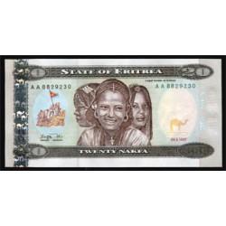 Eritrea 20 Nakfa PK 4 (24-5-1.997) S/C