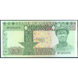 Ghana 20 Cedis PK 21c (6-3-1.982) S/C