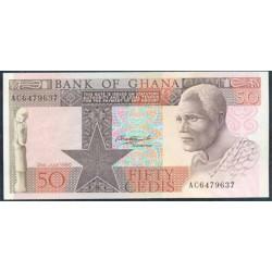 Ghana 50 Cedis PK 22b (2-7-1.980) S/C