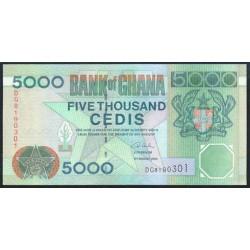 Ghana 5.000 Cedis PK 34i (4-8-2.003) S/C
