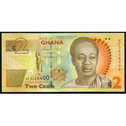 Ghana 2 Cedi PK 37Aa (6-3-2.010) S/C