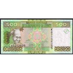 Guinea 500 Francos PK 39b (1-3-2.012) S/C