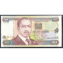 Kenia 50 Shilling PK 36d (1-7-1.999) S/C