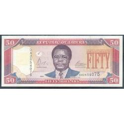 Liberia 50 Dólares PK 29b (2.004) S/C