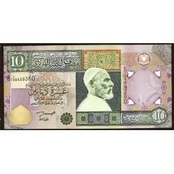 Libia 10 Dinares PK 66 (2.002) S/C