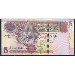 Libia 5 Dinares PK 69 (2.004) S/C