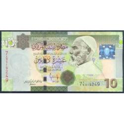 Libia 10 Dinares PK 73 (2.008) S/C-