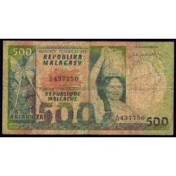 Madagascar 500 Francos / 100 Ariary PK 64 BC+